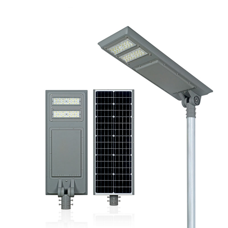 BT series smart MPPT CE Waterproof 80W adjustable Motion Sensor Remote Control Integrated lithium battery Solar led Street Light,all in one Solar Street Light,LiFePO4 solar lamp,Solar Garden Light,led urban lights,led road luminaires,led street lamp,five years warranty