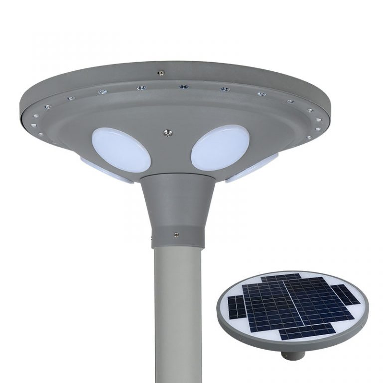 UFO series smart MPPT CE Waterproof 30W adjustable Motion Sensor Remote Control Integrated lithium battery Solar led Street Light,all in one Solar Street Light,LiFePO4 solar lamp,Solar Garden Light,led urban lights,led road luminaires,led street lamp,five years warranty