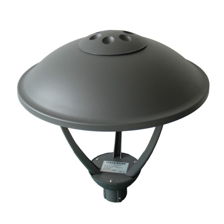 outdoor garden lamp top view